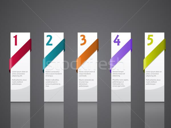 реклама Label набор пять цвета Сток-фото © vipervxw