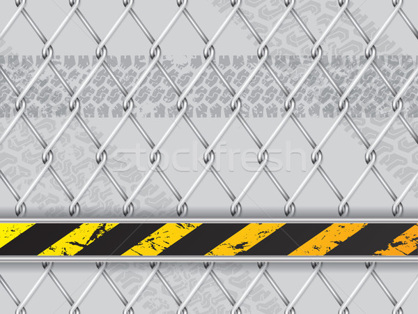 Abstract industrial background with wired fence Stock photo © vipervxw