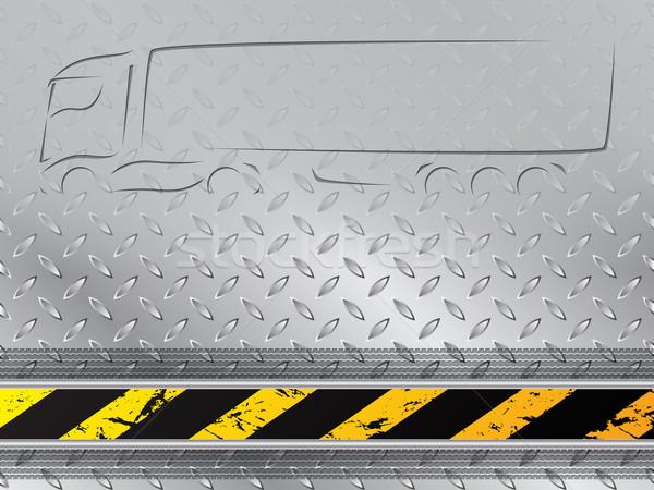Lastik izlemek kamyon siluet soyut endüstriyel Stok fotoğraf © vipervxw