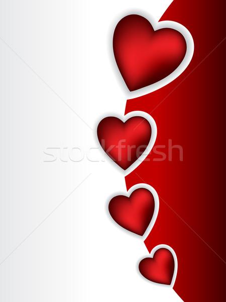 Serin valentine tebrik 3D kalp Stok fotoğraf © vipervxw
