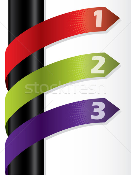 Cool numbered arrow labels pointing to the right  Stock photo © vipervxw