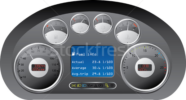 Dashboard of a truck Stock photo © vipervxw