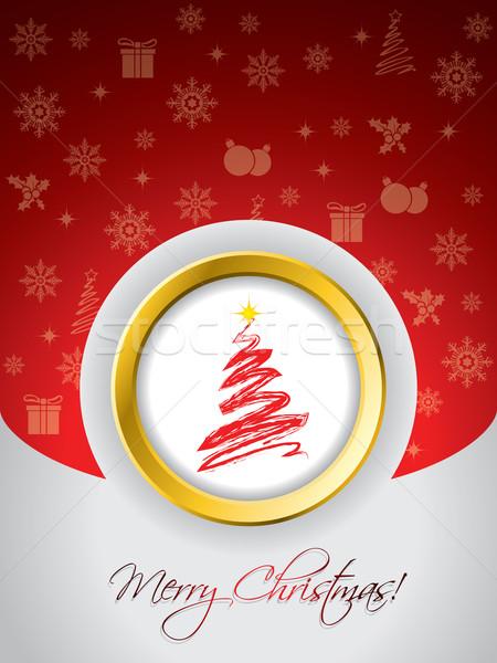 Red christmas greeting card  Stock photo © vipervxw