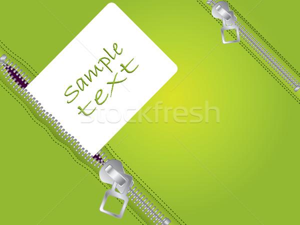 Zöld terv fehér címke üzlet absztrakt Stock fotó © vipervxw