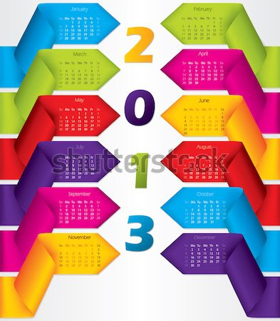 Cool infographics set with 3d buttons Stock photo © vipervxw