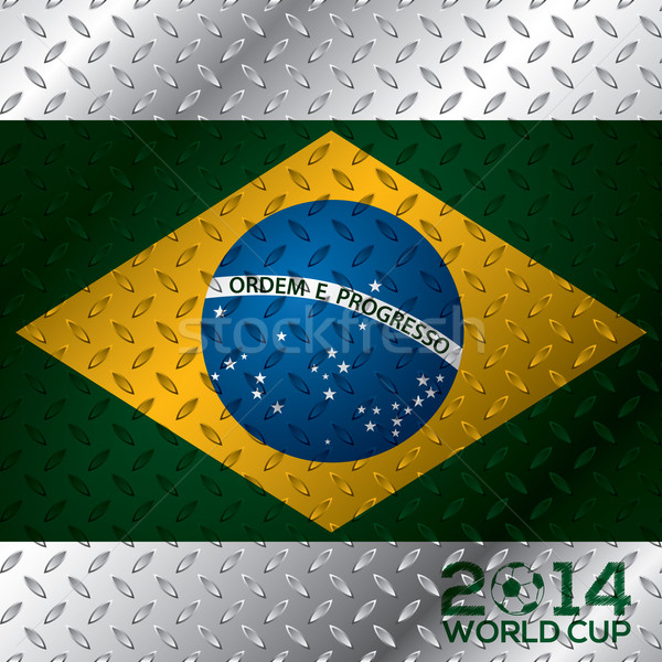 Abstract 2014 world cup poster Stock photo © vipervxw