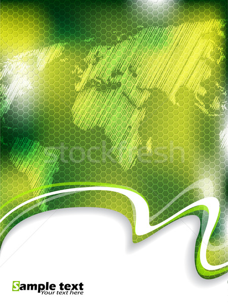 Green business brochure with hexagon pattern Stock photo © vipervxw