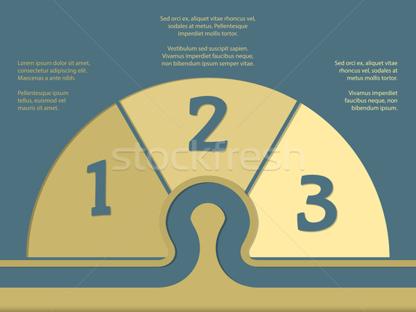 Simplistic infographic with numbers and options Stock photo © vipervxw
