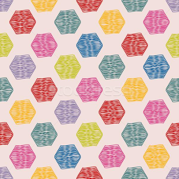 шестиугольник цвета шаблон дизайна аннотация искусства Сток-фото © vipervxw