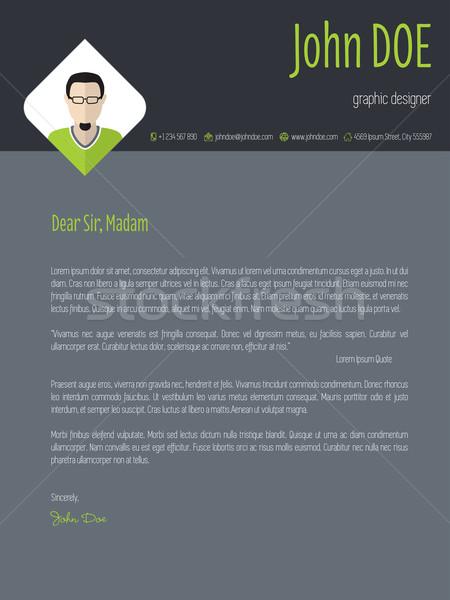 Hideg sötét önéletrajz borító levél cv Stock fotó © vipervxw