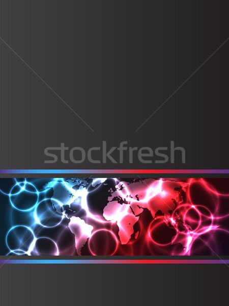 Abstrato companhia folheto plasma efeito efeitos Foto stock © vipervxw
