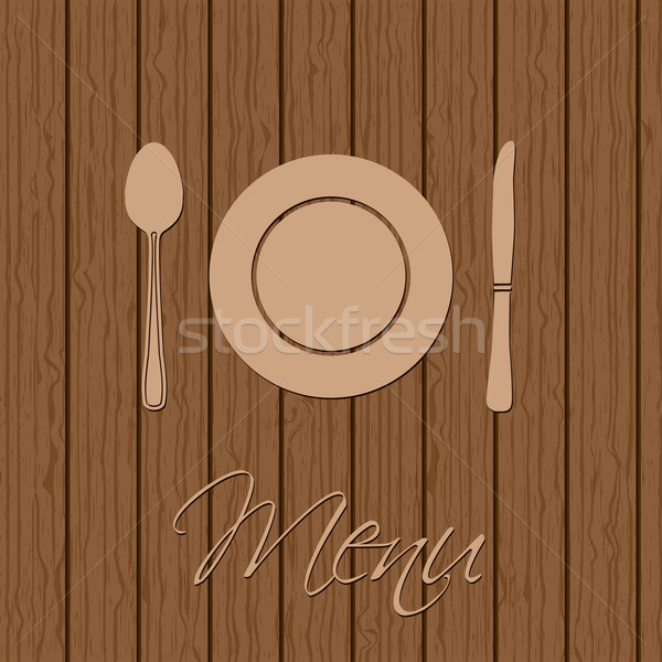 Retro menu design with utensil  Stock photo © vipervxw