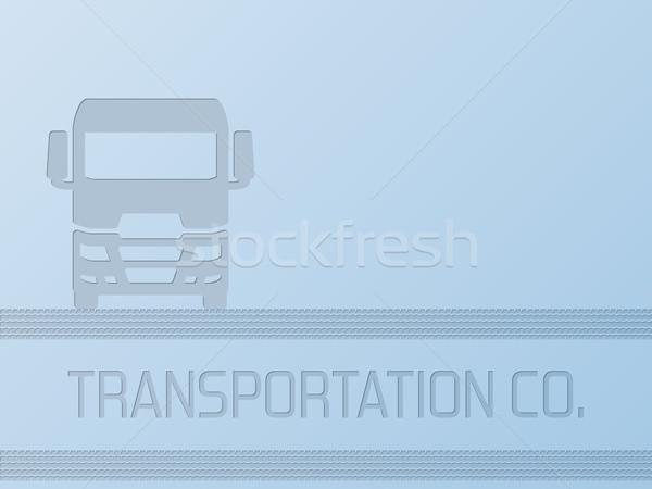 Truck advertisement background design Stock photo © vipervxw