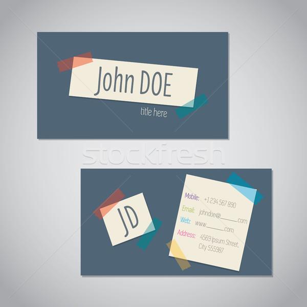 Névjegy szín terv posta absztrakt háló Stock fotó © vipervxw