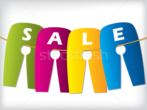 Hanging color sale labels Stock photo © vipervxw