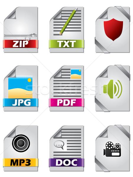 Icon set for files  Stock photo © vipervxw