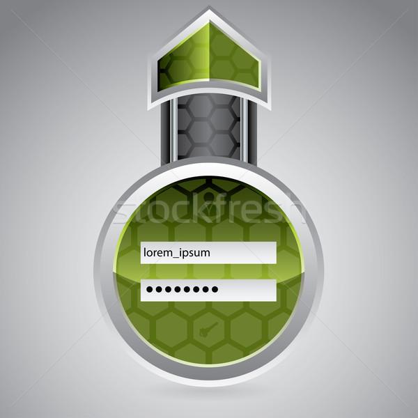 Abstract tecnologia login schermo design esagono Foto d'archivio © vipervxw