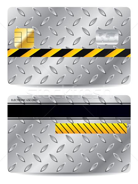 Metallic credit card design Stock photo © vipervxw