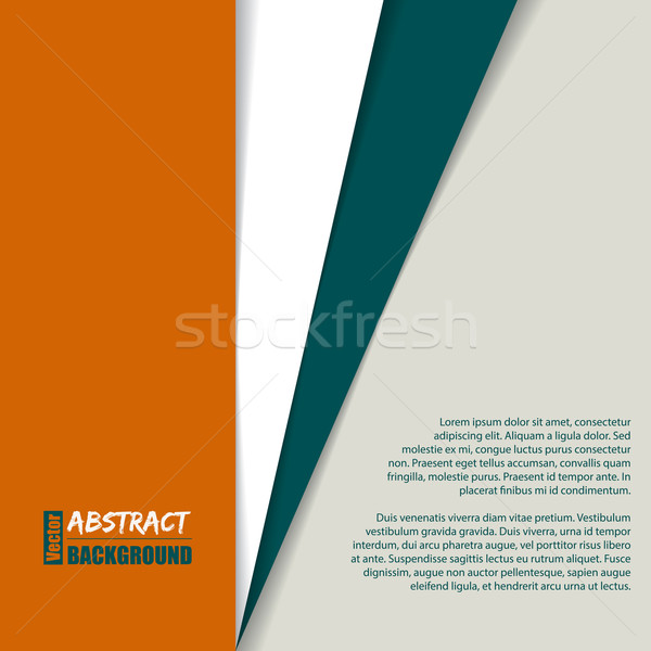 Striped brochure with place for text Stock photo © vipervxw