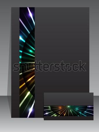 Abstract business set with plasma stripe Stock photo © vipervxw