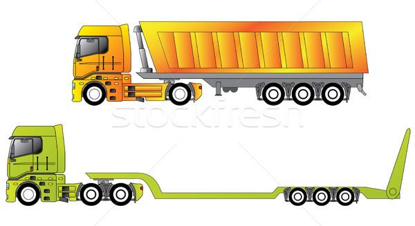 European construction site trucks  Stock photo © vipervxw