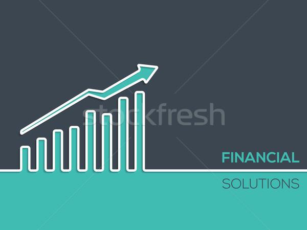 финансовых решения диаграммы реклама дизайна Сток-фото © vipervxw