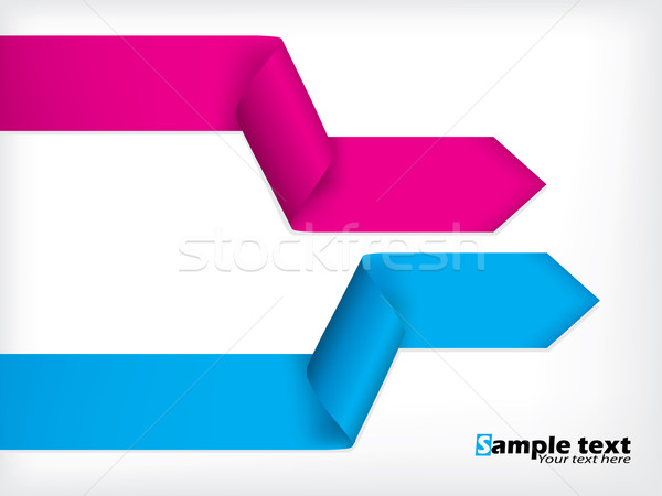 Abstract background design with colored ribbons  Stock photo © vipervxw