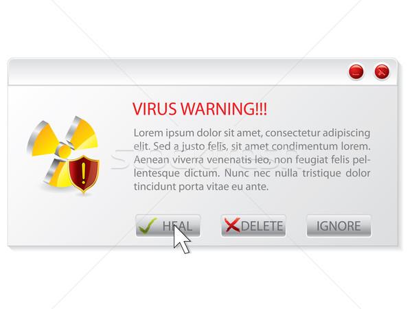 Virus warning window  Stock photo © vipervxw