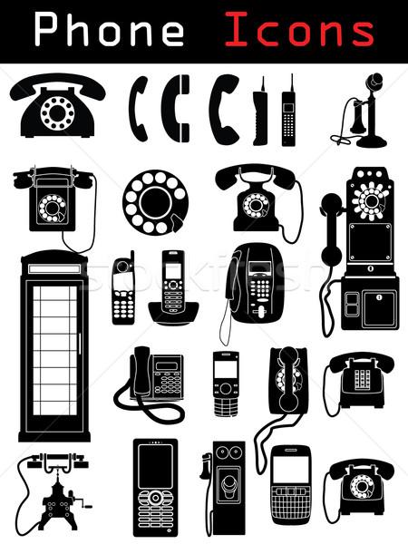 Phone Icons  Stock photo © vipervxw