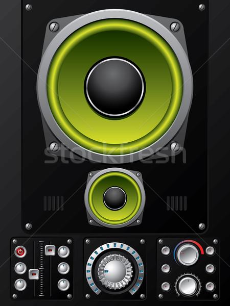 Hifi irányítás fedélzet fém hangszóró erő Stock fotó © vipervxw