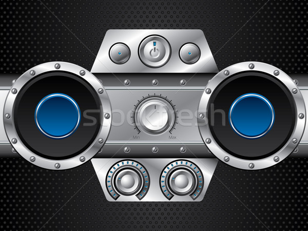 Hi fi set with speakers  Stock photo © vipervxw