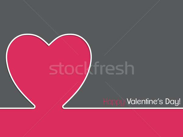 Simple valentine card design Stock photo © vipervxw