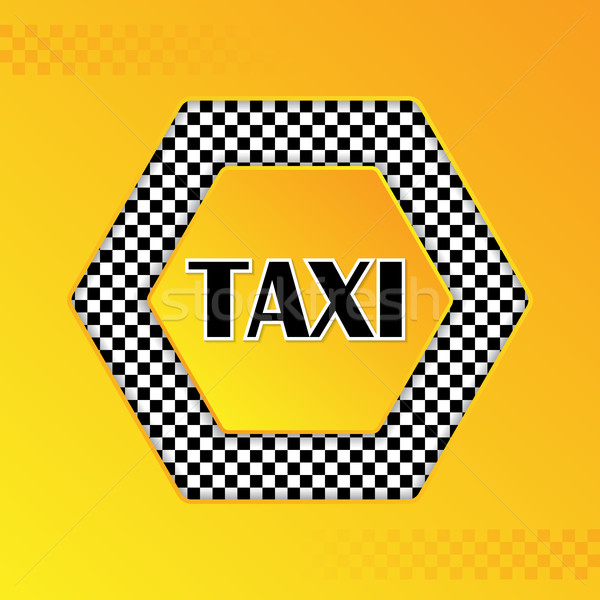 Checkered taxi background with text in center Stock photo © vipervxw