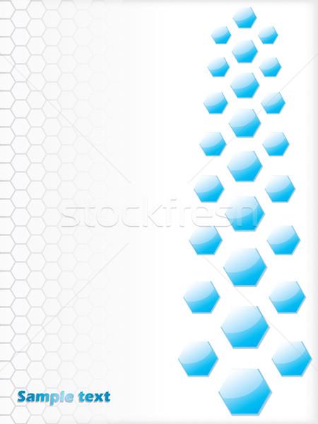 青 六角形 白 デザイン 文字 ファッション ストックフォト © vipervxw