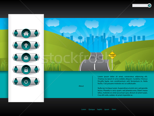 Business website template design with road picture Stock photo © vipervxw