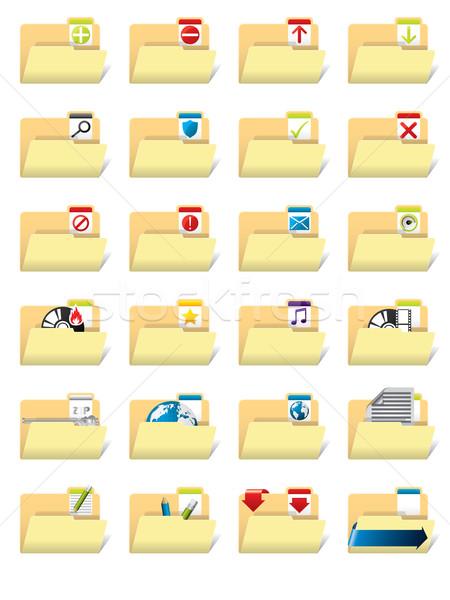 Folder icon set  Stock photo © vipervxw