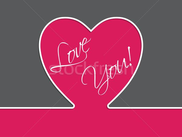 Simple valentine card Stock photo © vipervxw