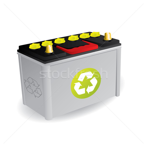 Recyclable car battery with sign Stock photo © vipervxw
