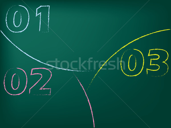 Stationary chalkboard design with huge numbers Stock photo © vipervxw