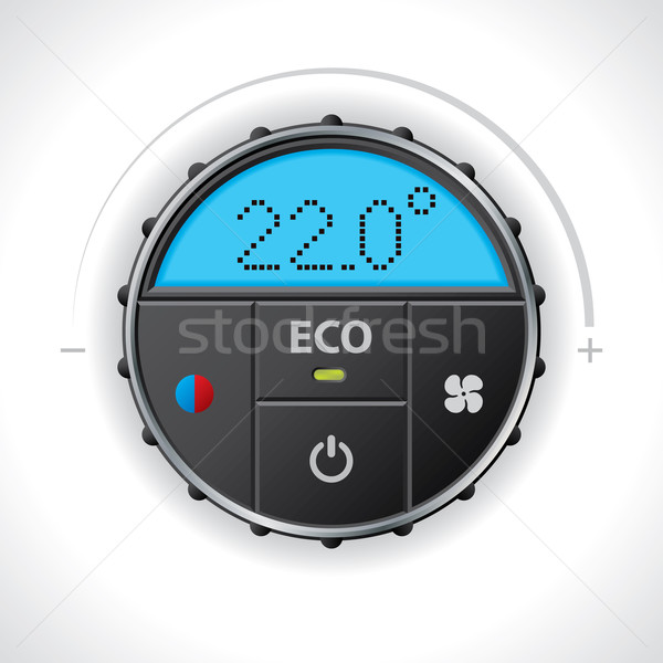Climatronic gauge design Stock photo © vipervxw