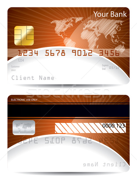 Credit card template with bursting world map Stock photo © vipervxw