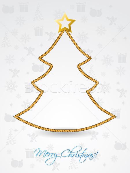クリスマスツリー ロープ グリーティングカード ツリー 芸術 ストックフォト © vipervxw