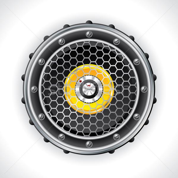 Abstract speaker and volume knob design Stock photo © vipervxw