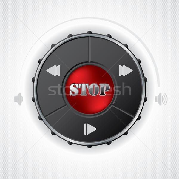 ボリューム 制御 ゲージ デザイン 六角形 ストックフォト © vipervxw