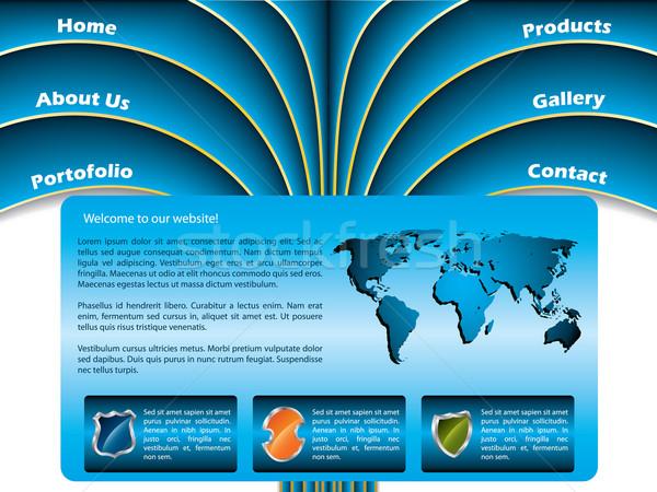 Palm progettazione di siti web cool onda come pulsanti Foto d'archivio © vipervxw