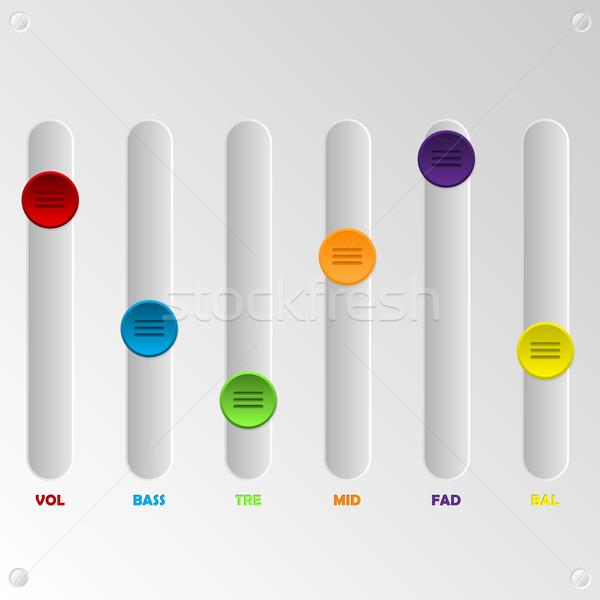 Color ecualizador establecer blanco panel diseno Foto stock © vipervxw