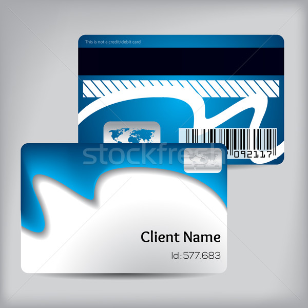 Blue wave loyalty card design Stock photo © vipervxw