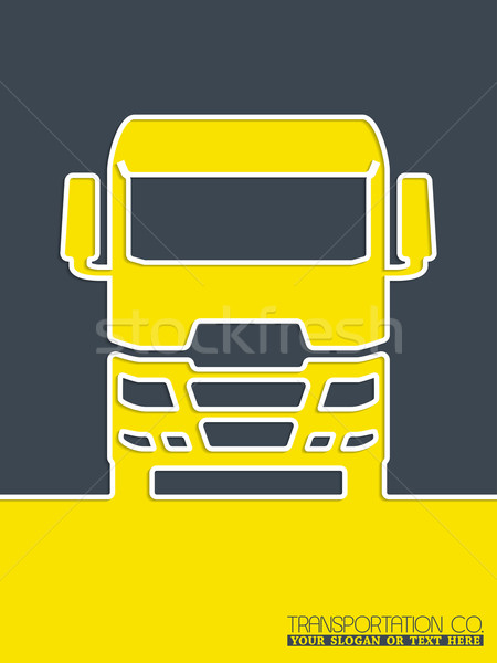 Transportation brochure design with truck Stock photo © vipervxw