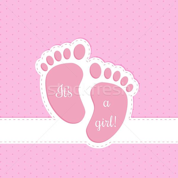 Baby shower greeting card invitation Stock photo © vipervxw