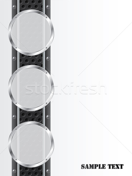 Industrial background design with metallic elements Stock photo © vipervxw